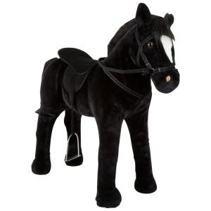 Cavallo giocattolo da cavalcare con suono, nero