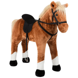 Cavallo giocattolo da cavalcare con suono, marrone