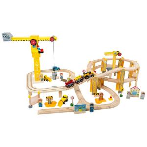 Set pista ferrovia in legno Cantiere Gioco per bambini