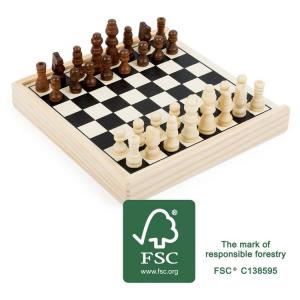Gioco degli scacchi da viaggio in legno