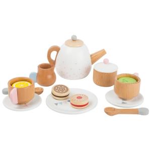 Servizio da tè in legno Cucina per bambini giocattolo