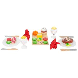 Set cibi per la cena in legno accessori cucina giocattolo