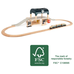 Stazione con accessori accessorio pista trenino in legno Small Foot World