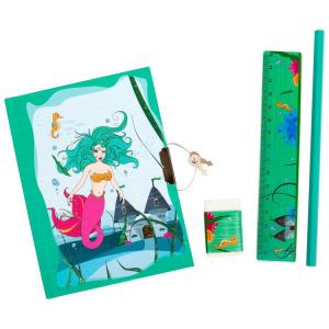 Diario segreto con lucchetto Sirena con accessori