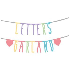 Ghirlanda di lettere componibile per feste compleanni