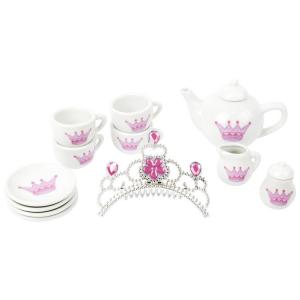 Servizio da tè in porcellana con Corona giocattolo