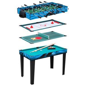 Tavolo gioco multifunzionale 4 in 1 Air Hokey, Biliardo, Calcio Balilla e Ping Pong