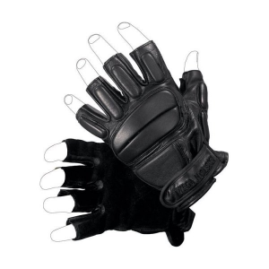Guanto operativo in pelle – mezze dita