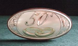 Icona 50° anniversario in argento