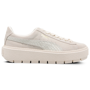 Sneakers donna Puma Suede Platform Trace Animal White-Metallic Gold