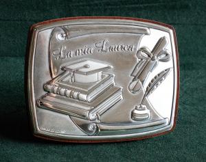 Icona laurea in argento