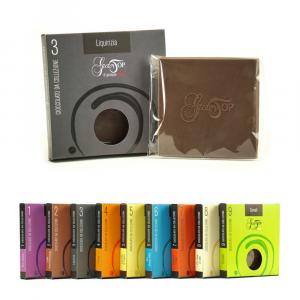 Tavolette di cioccolato 45 gr, Liquirizia e cioccolato fondente