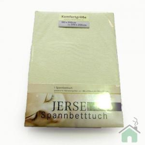 Lenzuola di cotone con angoli singole Jersey di maglina - verde chiaro 286