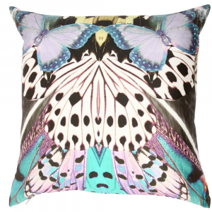 Cuscino decorativo ROBERTO CAVALLI 40x40 cm in raso FLYING WINGS multicolore