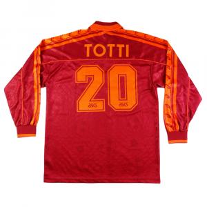 1995-96 As Roma Maglia Home #20 Totti L (Top)