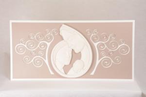 Capoletto Sacra Famiglia Riccioli Bianco 596CB1 80xh40 cm