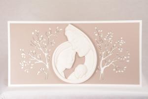 Capoletto Sacra Famiglia Foglie Bianco 596CB2 80xh40 cm