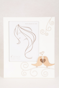 Portafoto Legno Bianco Amorini 15x20 cm