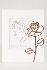 Portafoto Legno Bianco Rosa 10x15 cm