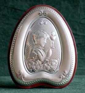 Icona Comunione Bambino in argento