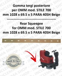 STILE 700 Bavette arrière pour autolaveuses OMM