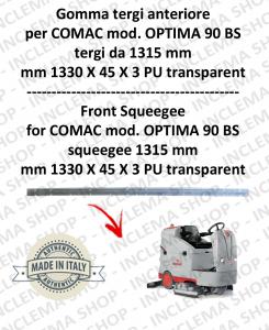 Bavette avant suceur da 1315 mm pour autolaveuses COMAC tergipavimento OPTIMA 90 BS
