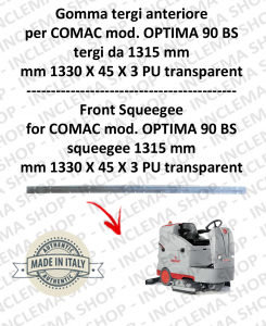 OPTIMA 90 BS (saug von 1315 mm) Vorne Sauglippen für Scheuersaugmaschinen COMAC