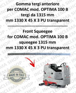 Bavette avant suceur da 1315 mm pour autolaveuses COMAC tergipavimento OPTIMA 100 B
