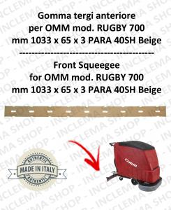 RUGBY 700 goma de secado delantera para fregadora OMM