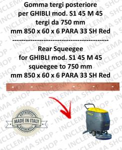 SERIE 1 45 M 45 (saug von 750 mm) Hinten sauglippen für scheuersaugmaschinen GHIBLI