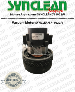 711022/V vacuum motor SYNCLEAN for vacuum cleaner & LAVAPAVIMENTI - can replace il motore 3891