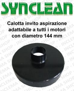 Calotta invito aspirazione adattabile a tutti i motori con diamètre 144 mm