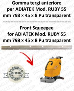 RUBY 55 - goma de secado delantera para fregadora ADIATEK