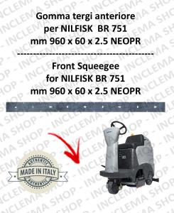 BR 751 goma de secado delantera para fregadora NILFISK