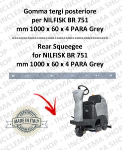 BR 751 goma de secado posteiore para fregadora NILFISK