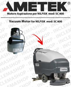 SC 800 Lamb Ametek vacuum motor di aspirazione for Scrubber Dryer NILFISK