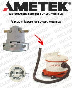 Sorma 505  motor de aspiración AMETEK ITALIA para aspiradora