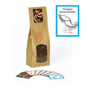 Caffè monorigine in grani Messico Chiapas Equosolidale confezioni disponibili: 1 Kg, 500 grammi e 250 grammi
