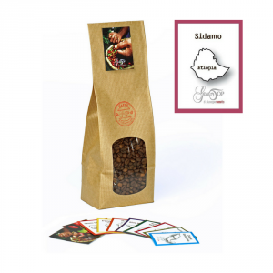 Caffè monorigine in grani Etiopia Sidamo confezioni disponibili: 1 Kg, 500 grammi e 250 grammi