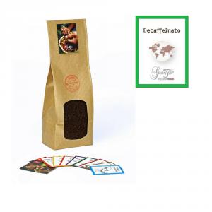 Miscela Caffè Decaffeinato GustoTop macinato per moka ed espresso, confezione da 250 grammi