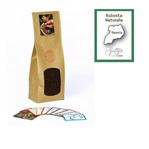 Caffè monorigine Uganda Naturale macinato per moka ed espresso, confezione da 250 grammi