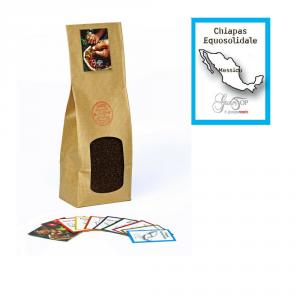Caffè monorigine Messico Chiapas Equosolidale macinato per moka ed espresso, confezione da 250 grammi
