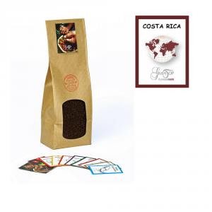 Caffè monorigine Costa Rica macinato moka ed espresso, confezione da 250 grammi