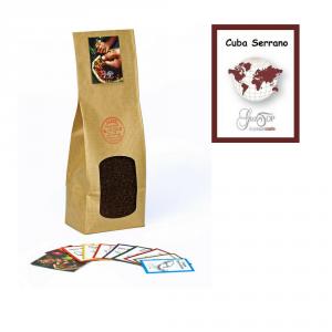 Caffè Cuba Serrano macinato per moka ed espresso, confezione da 250 grammi