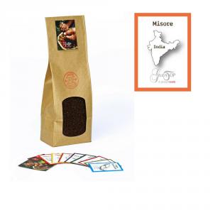 Caffè monorigine India Mysore macinato per moka ed espresso confezione da 250 grammi