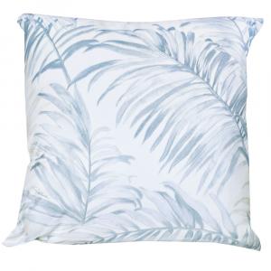 Cuscino decorativo ROBERTO CAVALLI 40x40 cm in raso TROPICALIA azzurro
