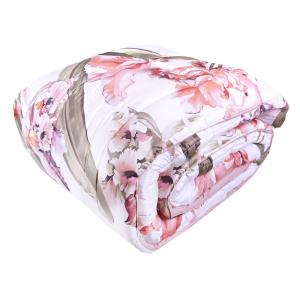FAZZINI trapunta maxi 270x270 cm IRIS matrimoniale 2 piazze raso floreale rosa