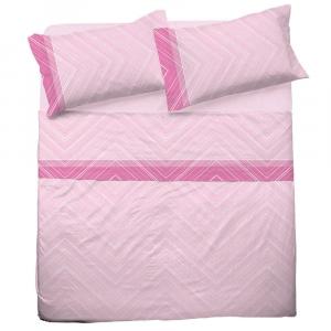 Set lenzuola matrimoniale 2 piazze in puro cotone MICHELLE rosa