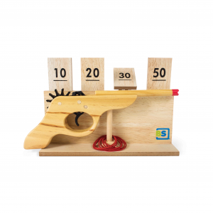 Tiro al Bersaglio Pistola in legno Shooting Game BS Toys GA202
