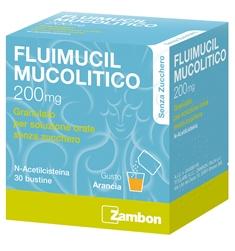 FLUIMUCIL MUCOLITICO GRANULATO 200 MG N-ACETILCISTEINA 30 BUSTINE SENZA ZUCCHERO